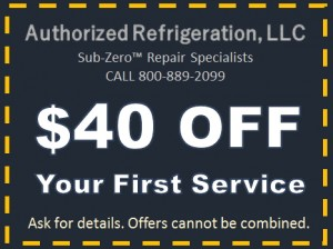 Sub-Zero Repair Coupon, NJ, NY, CT Discount